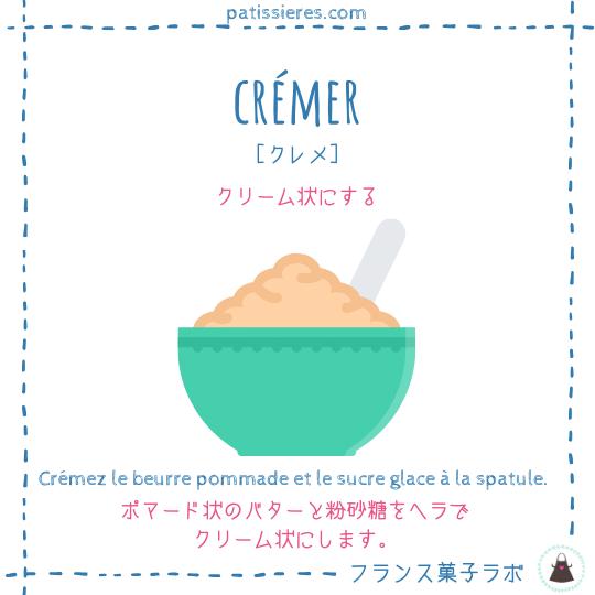 crémer【クリーム状にする】